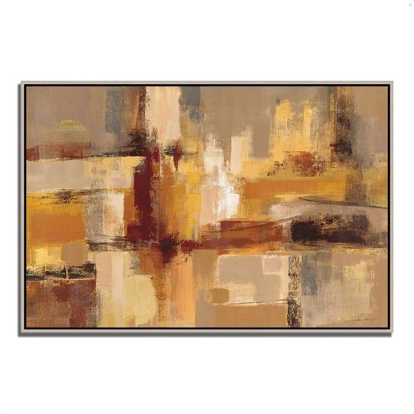 Fine Art Giclee Print on Gallery Wrap Canvas 32 In. x 22 In. Sandcastles by Silvia Vassileva Multi Color