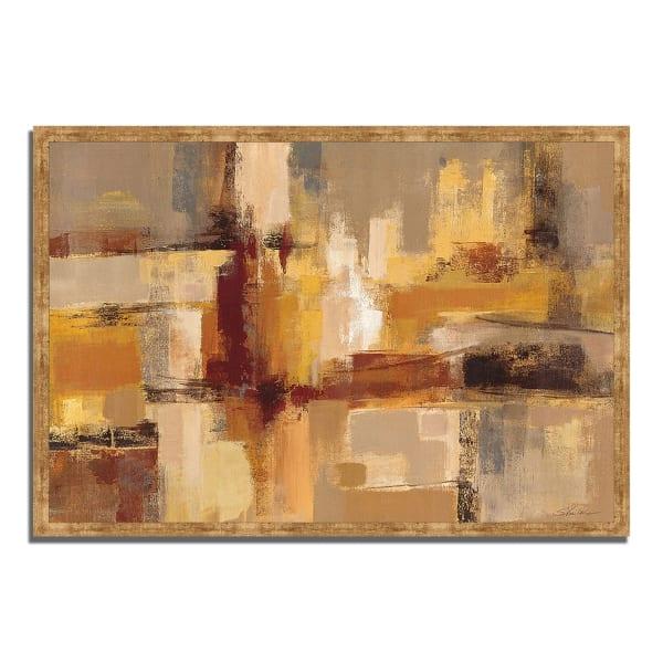 Framed Painting Print 38 In. x 26 In. Sandcastles by Silvia Vassileva Multi Color