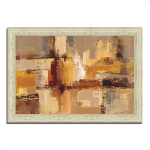 Framed Painting Print 42 In. x 30 In. Sandcastles by Silvia Vassileva Multi Color
