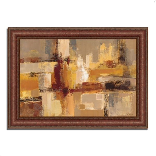 Framed Painting Print 52 In. x 37 In. Sandcastles by Silvia Vassileva Multi Color