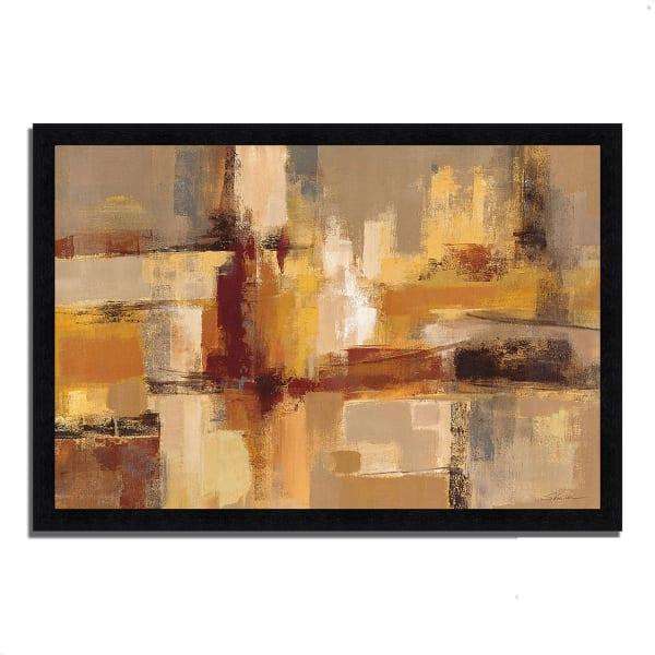Framed Painting Print 46 In. x 33 In. Sandcastles by Silvia Vassileva Multi Color