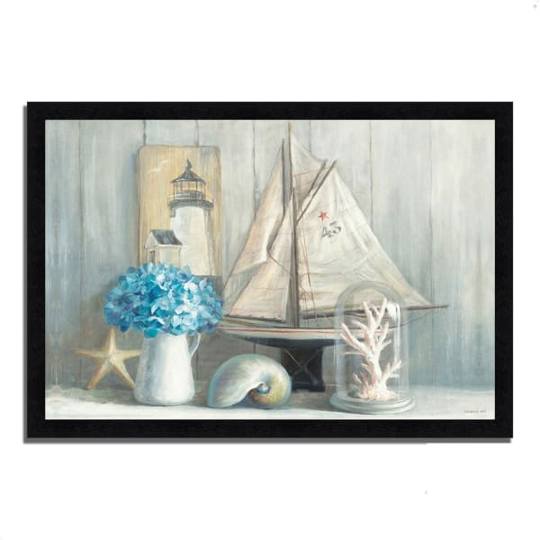 Framed Painting Print 46 In. x 33 In. Summer House by Danhui Nai Multi Color