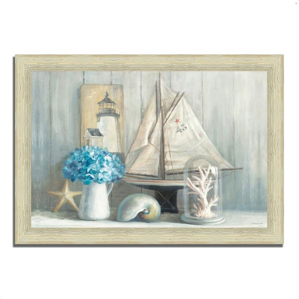 Framed Painting Print 36 In. x 26 In. Summer House by Danhui Nai Multi Color