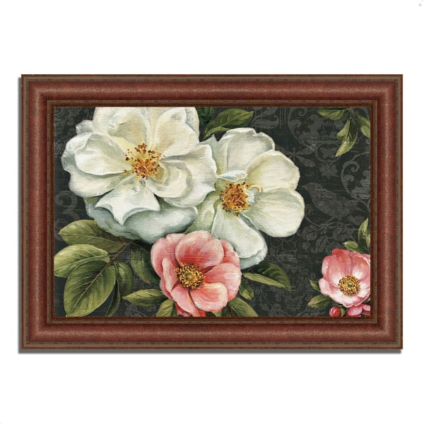 Framed Painting Print 52 In. x 37 In. Floral Damask I  by Lisa Audit Multi Color