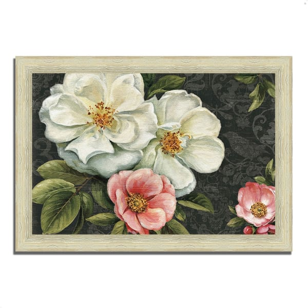 Framed Painting Print 42 In. x 30 In. Floral Damask I  by Lisa Audit Multi Color