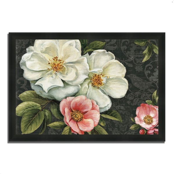 Framed Painting Print 39 In. x 27 In. Floral Damask I  by Lisa Audit Multi Color