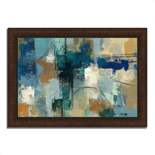 Framed Painting Print 51 In. x 36 In. Jasper Lagoon by Silvia Vassileva Multi Color