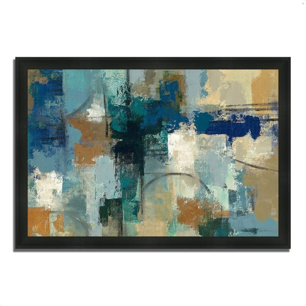 Framed Painting Print 33 In. x 23 In. Jasper Lagoon by Silvia Vassileva Multi Color