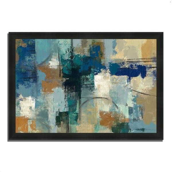 Framed Painting Print 39 In. x 27 In. Jasper Lagoon by Silvia Vassileva Multi Color