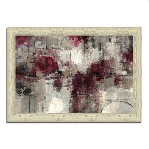 Framed Painting Print 42 In. x 30 In. Stone Gardens by Silvia Vassileva Multi Color