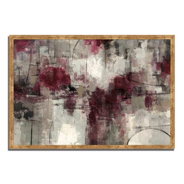 Framed Painting Print 59 In. x 40 In. Stone Gardens by Silvia Vassileva Multi Color
