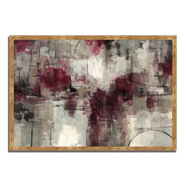 Framed Painting Print 47 In. x 32 In. Stone Gardens by Silvia Vassileva Multi Color