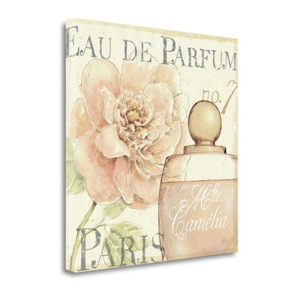Giclee Print on Gallery Wrap Canvas 20 In. x 20 In. Fleurs And Parfum II By Daphne Brissonnet Multi Color
