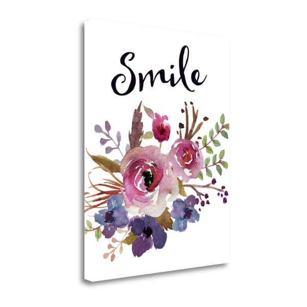 Fine Art Giclee Print on Gallery Wrap Canvas 16 In. x 20 In. Smile By Tara Moss Multi Color