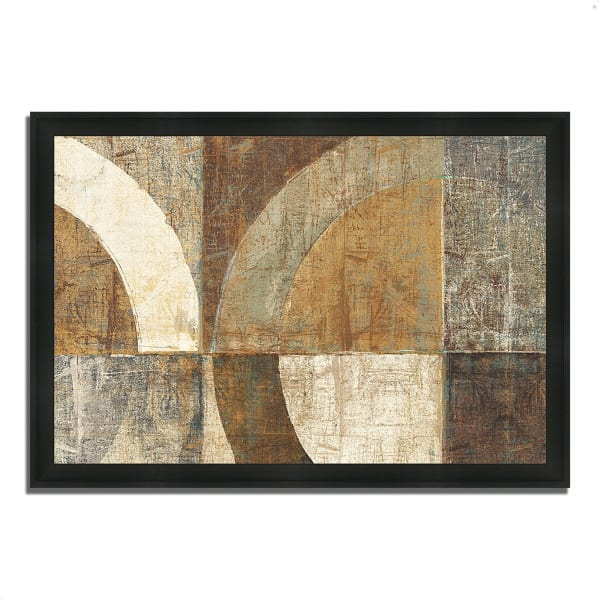 Framed Painting Print 33 In. x 23 In. Circular Sculpture by Wild Apple Portfolio Multi Color