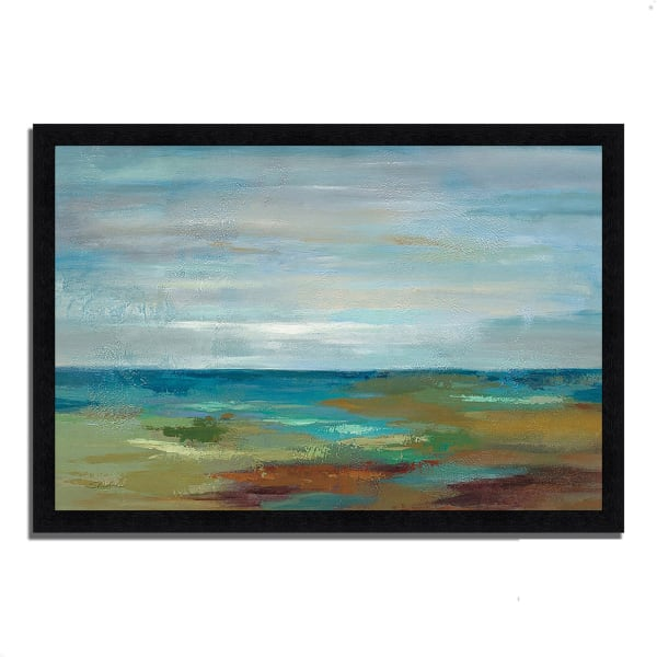 Framed Painting Print 46 In. x 33 In. Wispy Clouds by Silvia Vassileva Multi Color