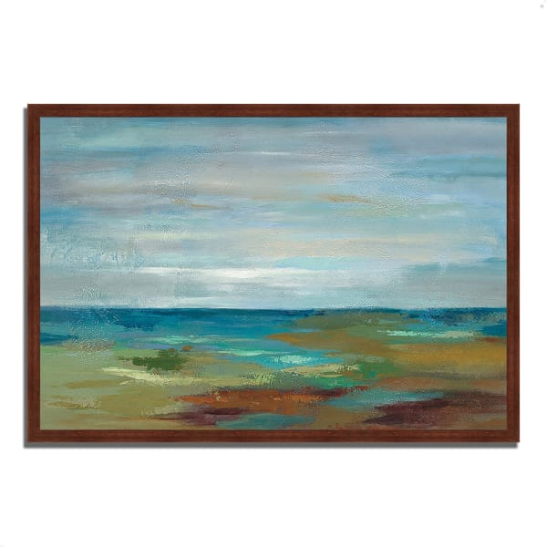 Framed Painting Print 59 In. x 40 In. Wispy Clouds by Silvia Vassileva Multi Color