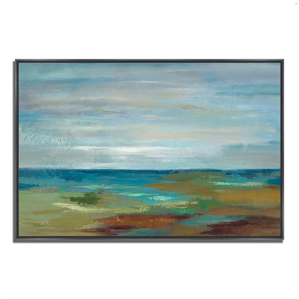 Fine Art Giclee Print on Gallery Wrap Canvas 59 In. x 40 In. Wispy Clouds by Silvia Vassileva Multi Color