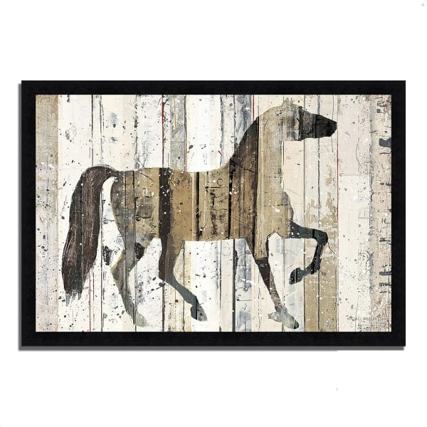 Framed Painting Print 60 In. x 41 In. Dark Horse by Michael Mullan Multi Color