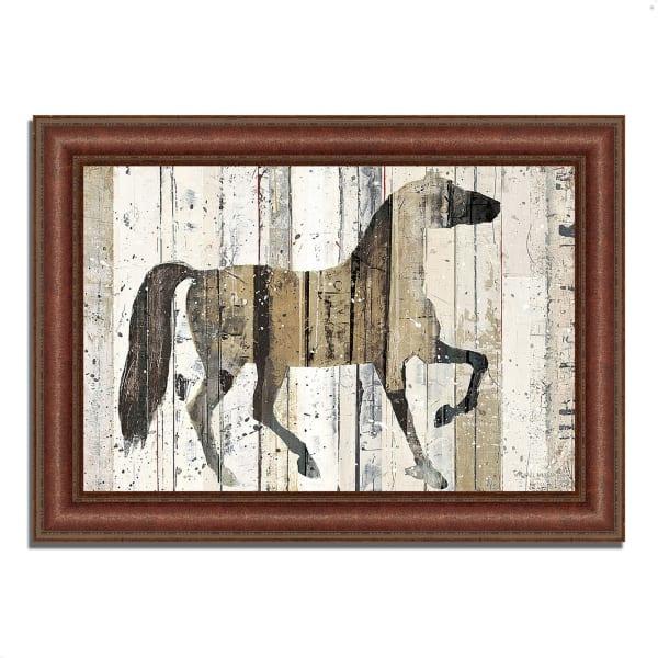 Framed Painting Print 64 In. x 45 In. Dark Horse by Michael Mullan Multi Color