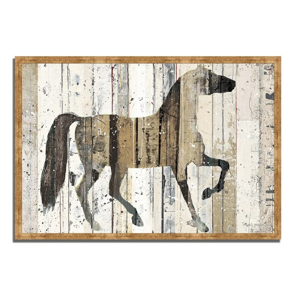 Framed Painting Print 59 In. x 40 In. Dark Horse by Michael Mullan Multi Color