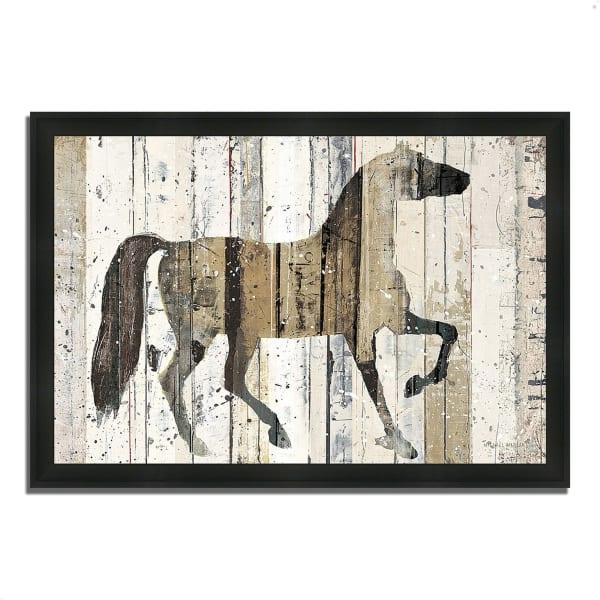 Framed Painting Print 33 In. x 23 In. Dark Horse by Michael Mullan Multi Color