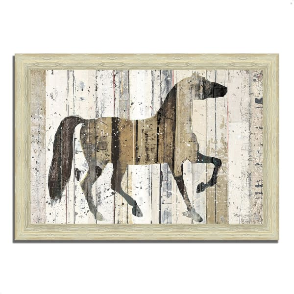 Framed Painting Print 51 In. x 36 In. Dark Horse by Michael Mullan Multi Color