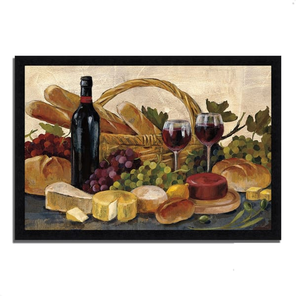 Framed Painting Print 46 In. x 33 In. Tuscan Evening Wine by Silvia Vassileva Multi Color