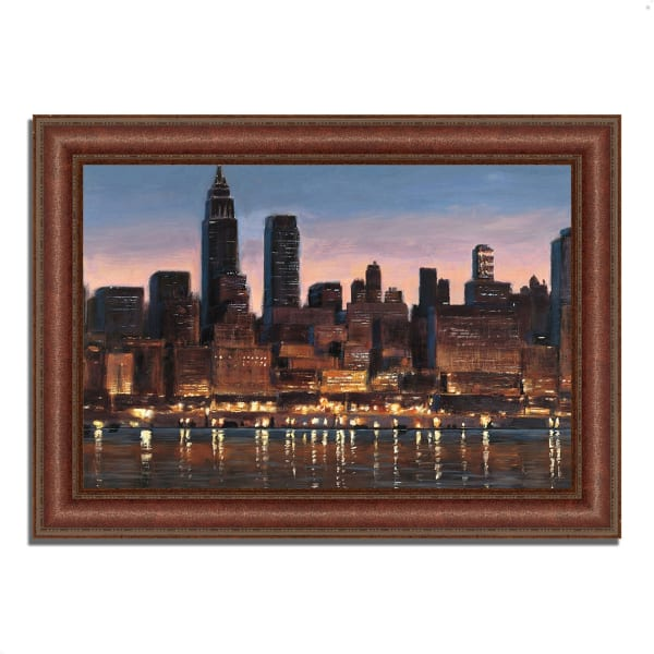 Framed Painting Print 52 In. x 37 In. Manhattan Reflection by James Wiens Multi Color