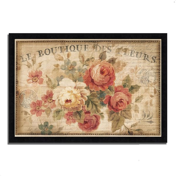 Framed Painting Print 33 In. x 23 In. Parisian Flowers III by Danhui Nai Multi Color