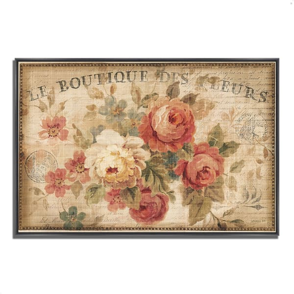 Fine Art Giclee Print on Gallery Wrap Canvas 38 In. x 26 In. Parisian Flowers III by Danhui Nai Multi Color