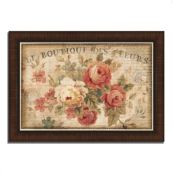 Framed Painting Print 51 In. x 36 In. Parisian Flowers III by Danhui Nai Multi Color