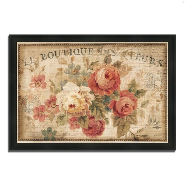 Framed Painting Print 39 In. x 27 In. Parisian Flowers III by Danhui Nai Multi Color