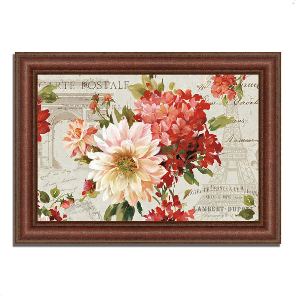 Framed Painting Print 37 In. x 27 In. PS Je Taime I Light by Lisa Audit Multi Color