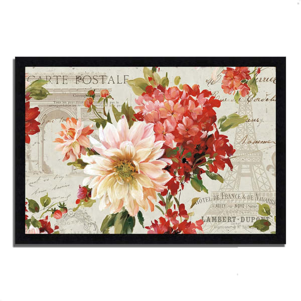 Framed Painting Print 39 In. x 27 In. PS Je Taime I Light by Lisa Audit Multi Color
