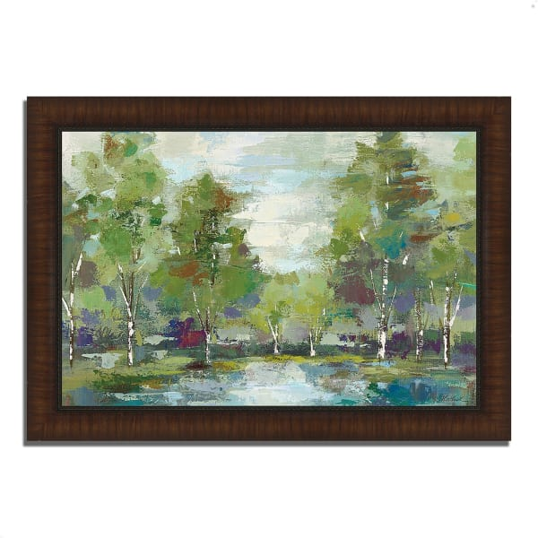 Framed Painting Print 63 In. x 44 In. Forest at Dawn by Silvia Vassileva Multi Color
