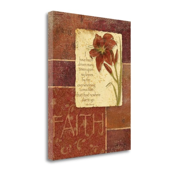 Fine Art Giclee Print on Gallery Wrap Canvas 16 In. x 20 In. Faith By Jo Moulton Multi Color