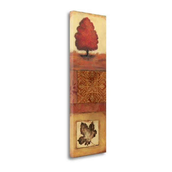 Fine Art Giclee Print on Gallery Wrap Canvas 12 In. x 36 In. Autumn I By Jo Moulton Multi Color