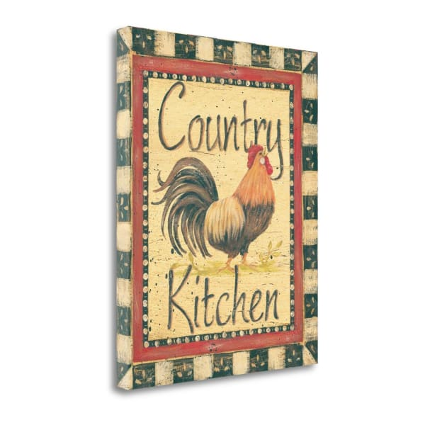 Fine Art Giclee Print on Gallery Wrap Canvas 16 In. x 20 In. Country Kitchen By Jo Moulton Multi Color