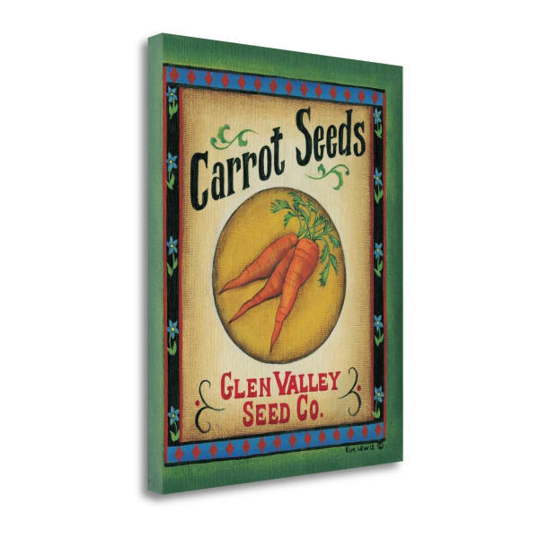 Fine Art Giclee Print on Gallery Wrap Canvas 16 In. x 20 In. Carrot Seeds By Kim Lewis Multi Color