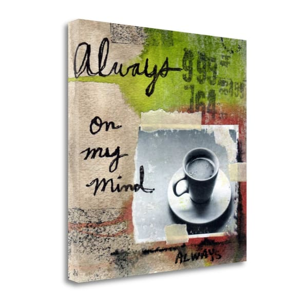 Fine Art Giclee Print on Gallery Wrap Canvas 20 In. x 20 In. Always By Linda Woods Multi Color