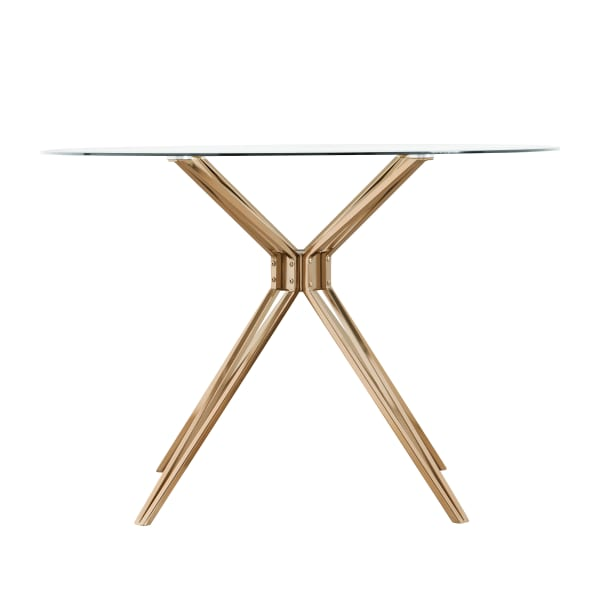 Stotfold Round Gold Dining Table