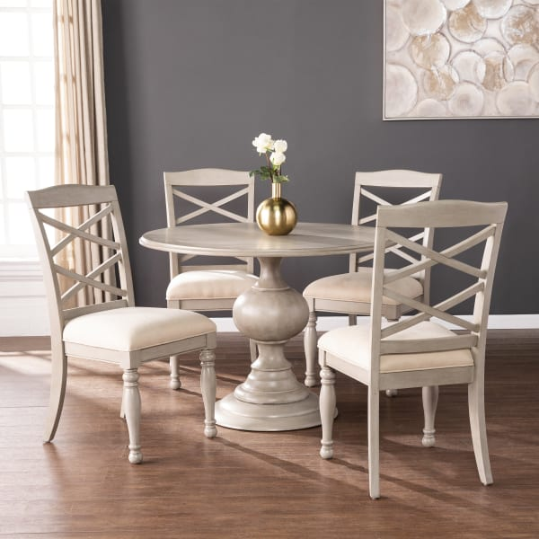 Antony Round Pedestal Dining Table, Round Pedestal Dining Room Table