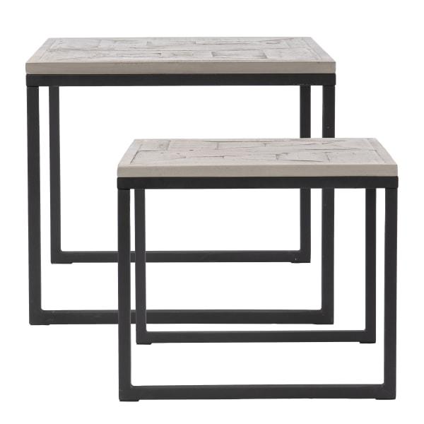 Albury Reclaimed Wood Nesting End Tables – 2pc Set