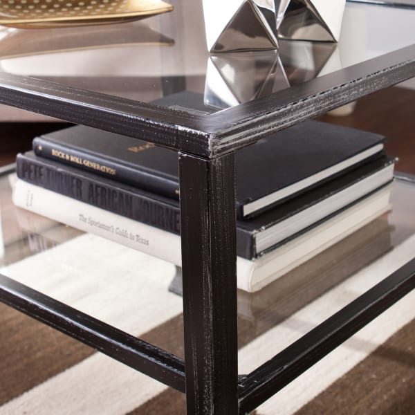 Kathryn Metal and Glass Cocktail Table