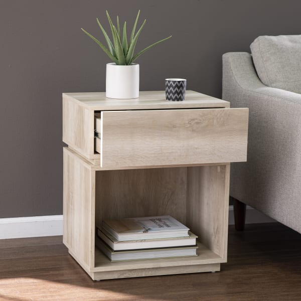 Dominique  Side Table w/ Charging Station