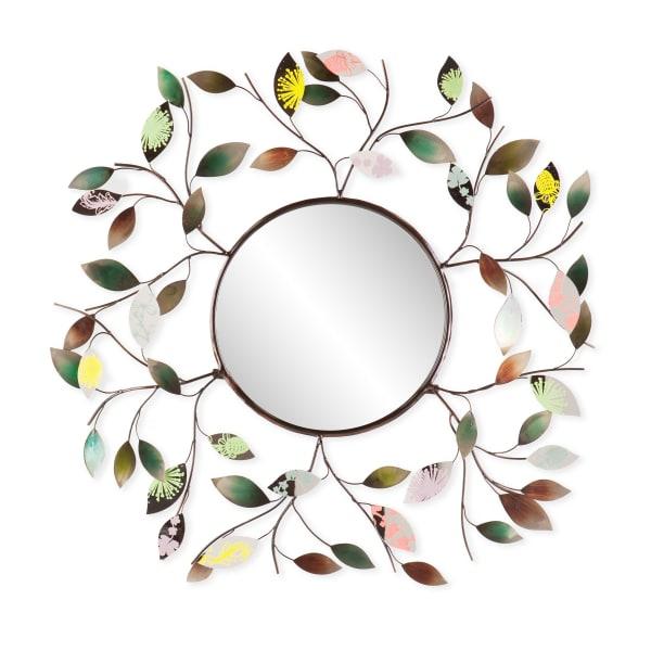 Jordan  Metallic Leaf Wall Mirror