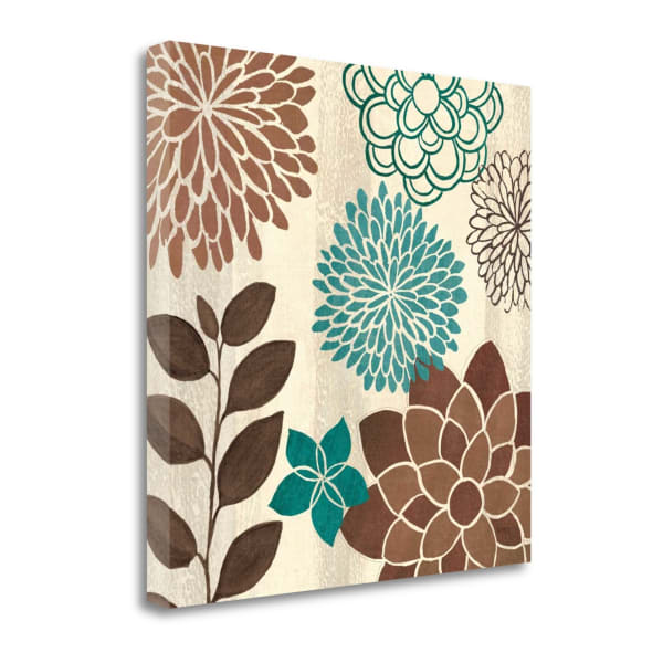 Abstract Garden Blue I Wrapped Canvas Wall Art