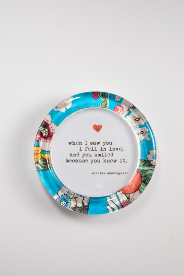 When I Saw You Floral Recycled Glass Coaster