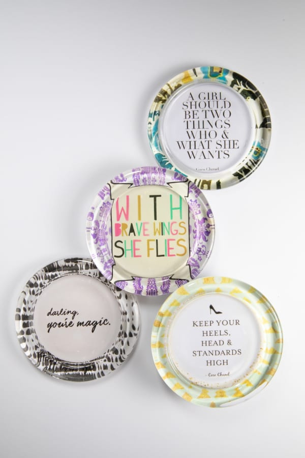 Inspirational Recycled Glass Coaster Set of 4
